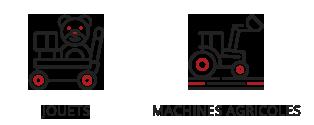 Vogel & Vogel • Nos compétences • jouets • machines agricoles
