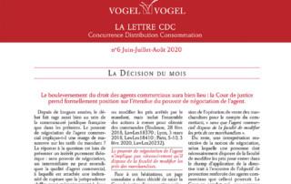 ogel & Vogel • CDC n6 juin 2020
