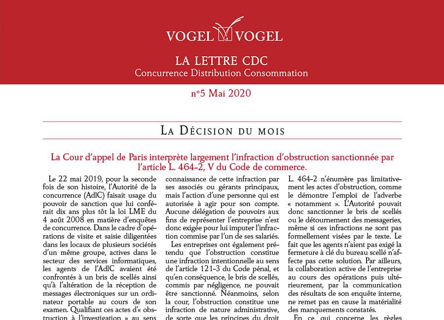 Vogel & Vogel • CDC n5 2020