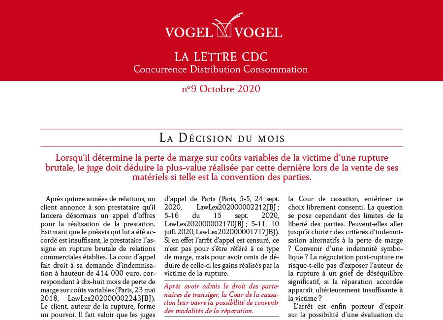 ogel & Vogel • CDC n9 octobre 2020