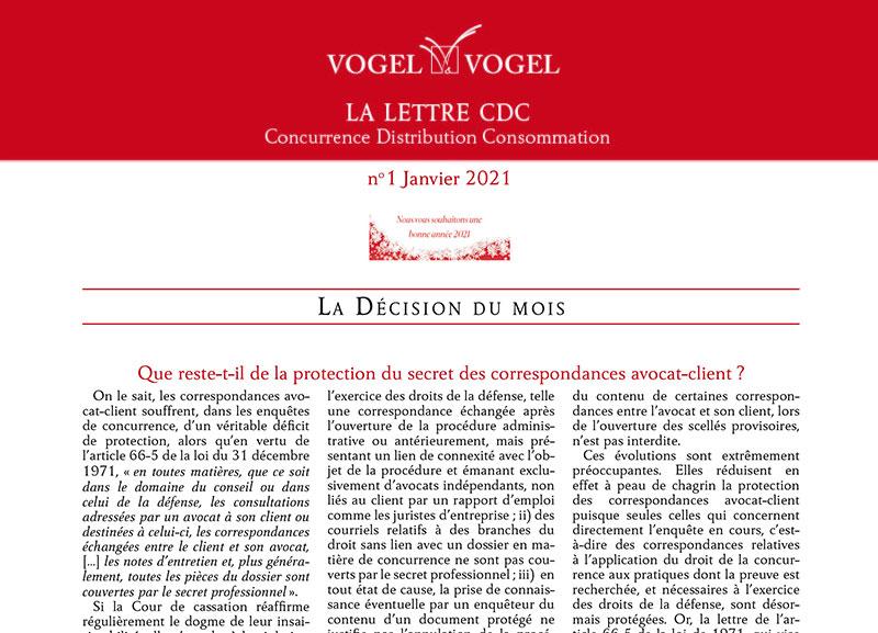 ogel & Vogel • CDC 1 janvier 2021