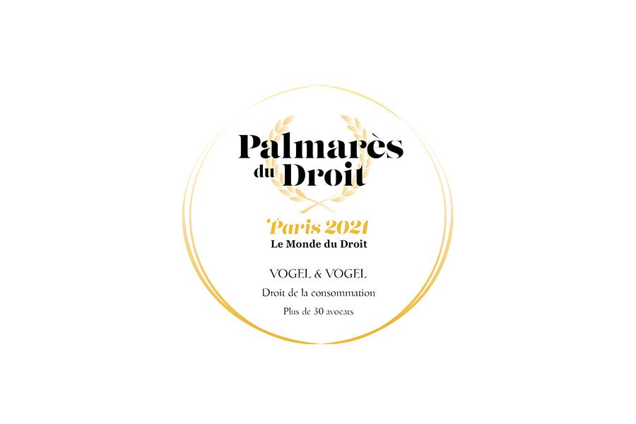 Palmarès du monde du droit 2021 • Vogel&Vogel